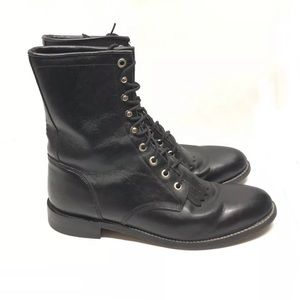 🔥Justin Combat Boots Size 9.5 Black Moto